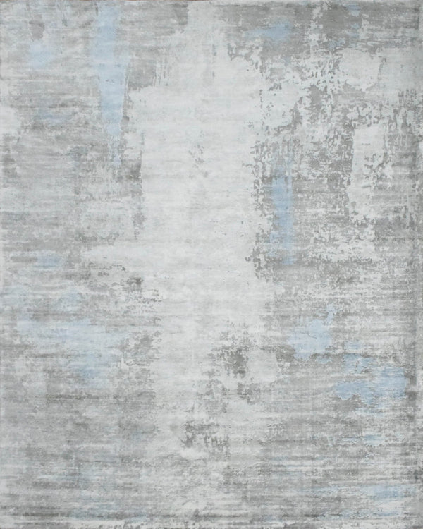 8x10 Rug, Abstract Blue and Gray Rug made with Viscose Art Silk, Living, Dinning and Bedroom Rug | TRD0090AR810 - The Rug Decor