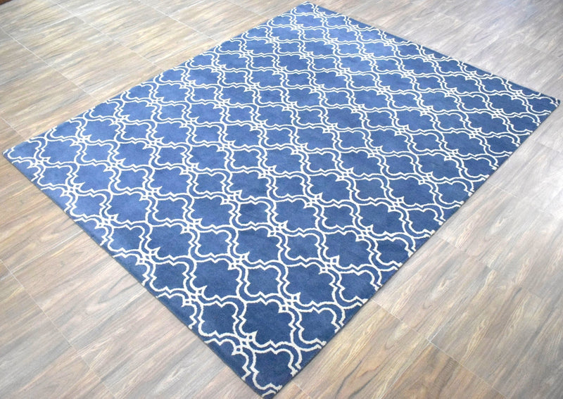 8'x10' Rug | Modern Hand Made Indian Wool Area Rug | The Rug Decor | TRD1007810 - The Rug Decor