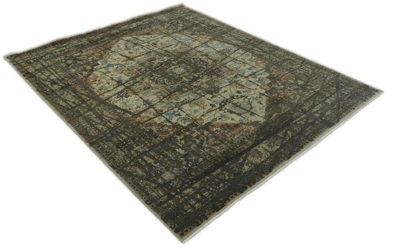 8x10 Rug | Modern Heriz Serapi Handmade Wool Area Rug | TRD1684810 - The Rug Decor
