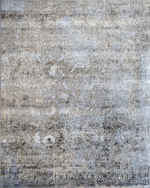 9'x12' | Rug Modern Hand made Hand-spun wool and Handspun Bamboo Silk Area Rug | The Rug Decor | TRD2028912 - The Rug Decor