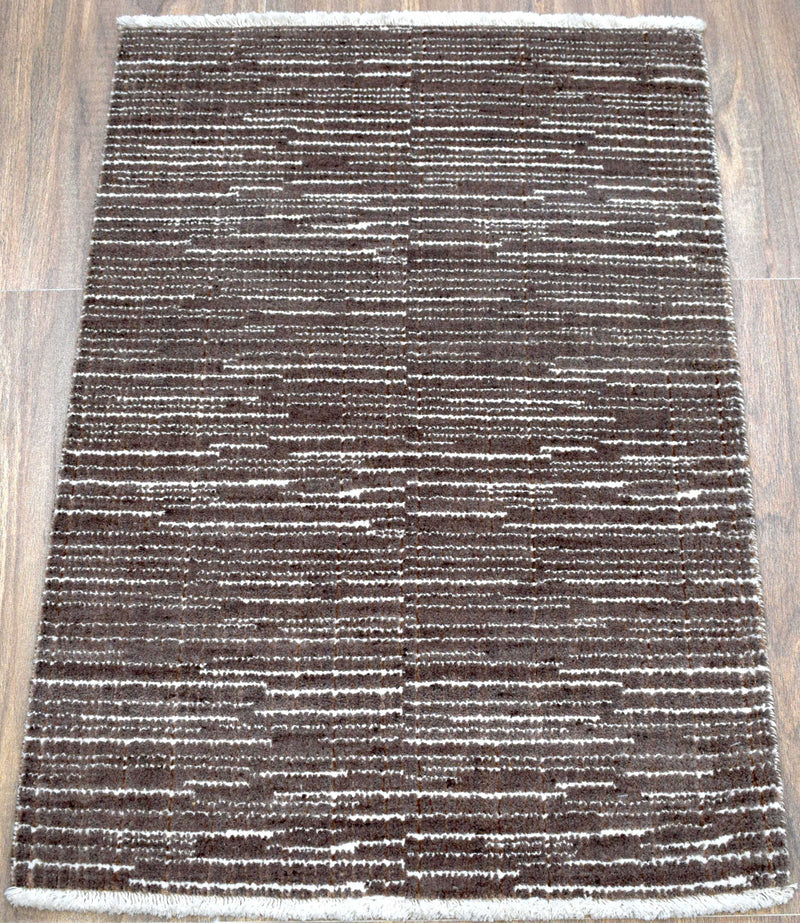 Traditional Handmade Wool & Viscose 2x3 Area Rug | TRD140323