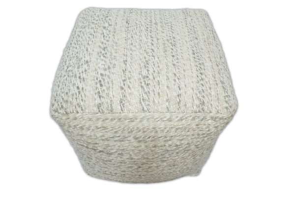 Handmade Viscose Pouf- Comfortable Chair or Footrest -  Natural  | TRD110