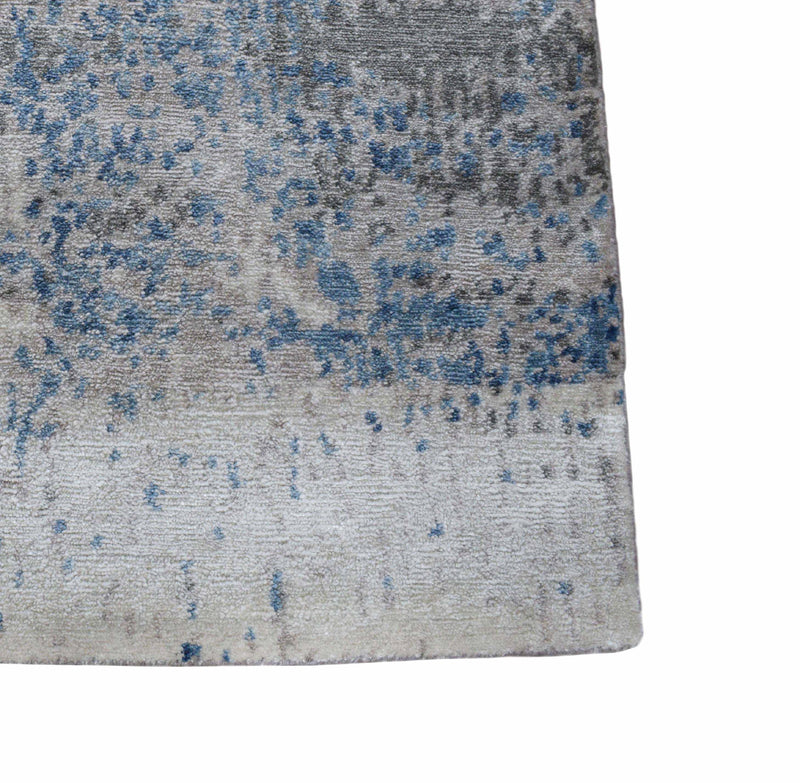 Abstract Handmade Bamboo Silk 8x10 Area Rug | TRD1689810