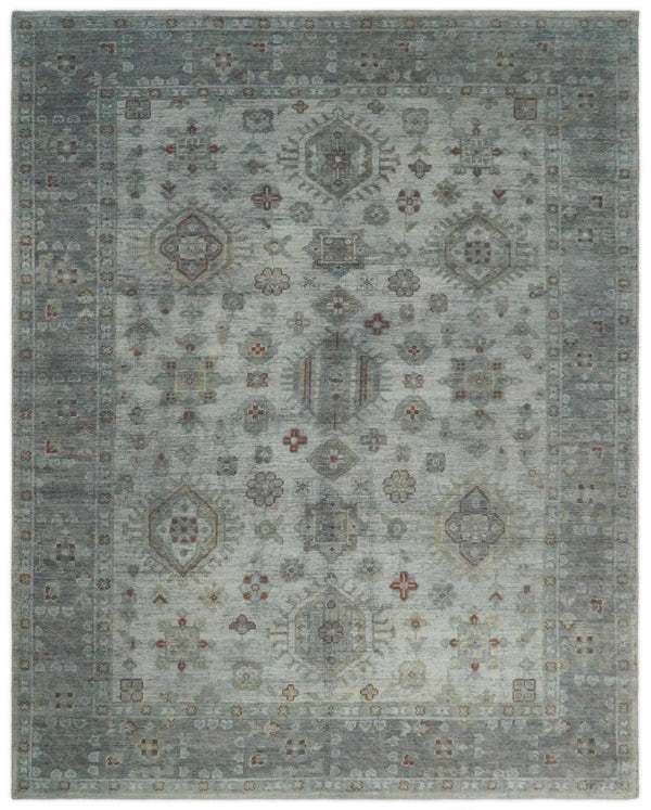 Antique Industrial 8x10 Silver and Gray Traditional Persian Area Rug | TRD2400 - The Rug Decor