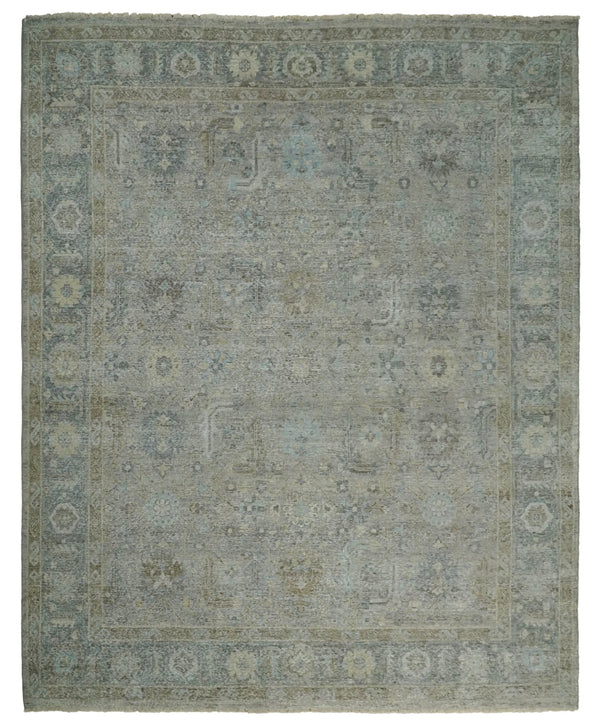Hand Knotted 8x10 Brown Traditional Oxidized Textured Low Pile Wool Rug | TRD2254810 - The Rug Decor
