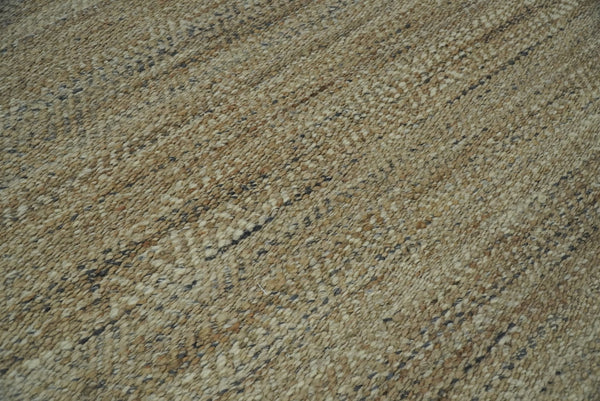 Hand Woven 100% Natural Fiber Brown Natural Jute and Wool Rug | JR10 - The Rug Decor