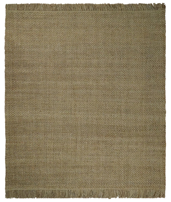 Hand Woven 100% Natural Fiber Brown Natural Jute Rug | JR7 - The Rug Decor