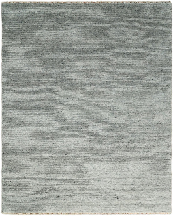 Hand Woven 8x10 Shaded Gray and Silver Rug Made with Fine Wool | TRDCP77810 - The Rug Decor