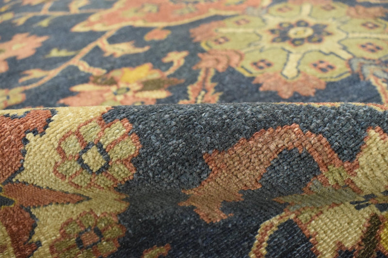 Handmade 5x8 Rust and Blue Heriz Serapi Runner made with fine wool | SRP06 - The Rug Decor