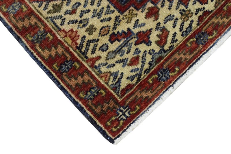 Handmade Rust and Blue Heriz Serapi Runner made with fine wool | SRP01 - The Rug Decor