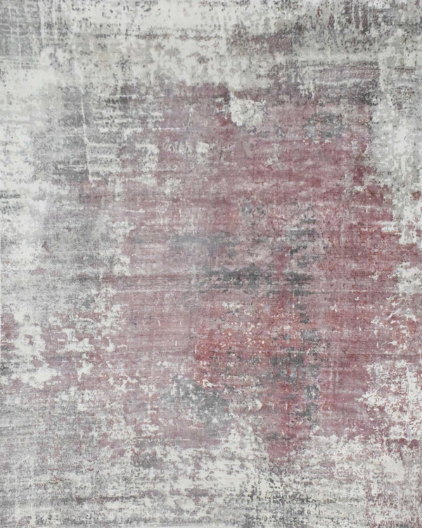 Ivory and Red Handmade Area Rug Made With Fine Viscose | Loop Pile - The Rug Decor