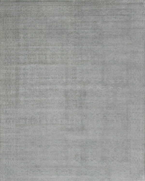 Luxury Hand knotted Wool 8x10 Gray Area Rug | EMP3 - The Rug Decor