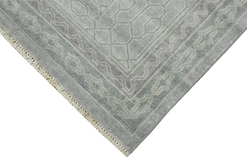 Luxury Hand knotted Wool 8x10 Gray Area Rug | EMP4 - The Rug Decor