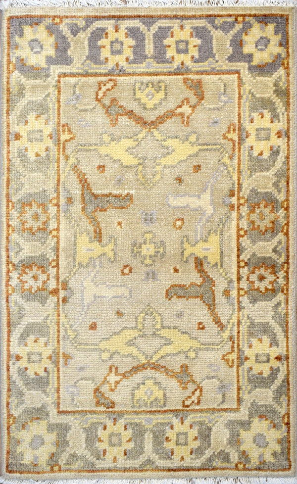 Modern Hand Knotted Wool 2' by 3' Area Rug | The Rug Decor |TRD142723 - The Rug Decor