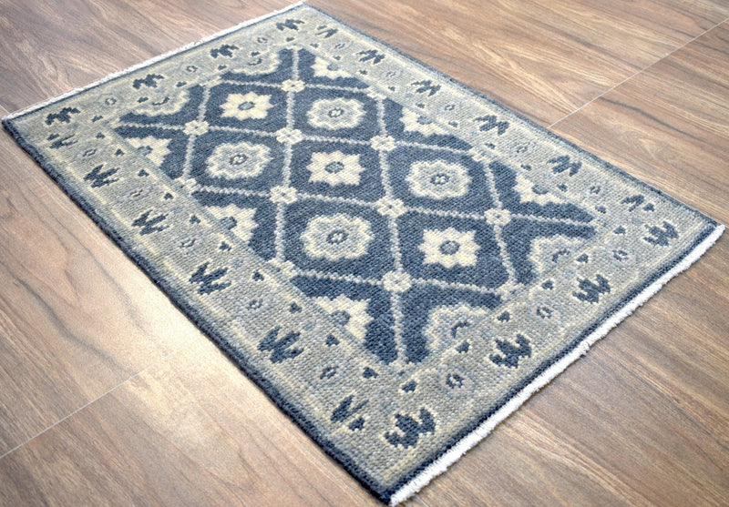 Modern Hand Knotted Wool Blended with Viscose 2' by 3' Area Rug| The Rug Decor |TRD187823 - The Rug Decor