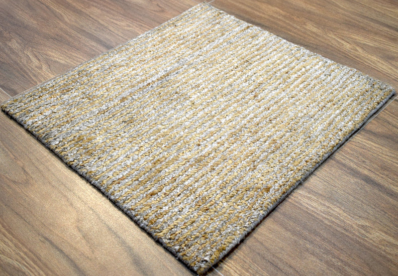 Modern Hand made Jute and Bamboo Silk 2' by 2' Area Rug | The Rug Decor |TRD1006622 - The Rug Decor