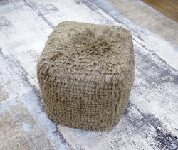 Modern Styling Handmade Pouf - Comfortable Chair or Footrest - Grey | TRD11 - The Rug Decor