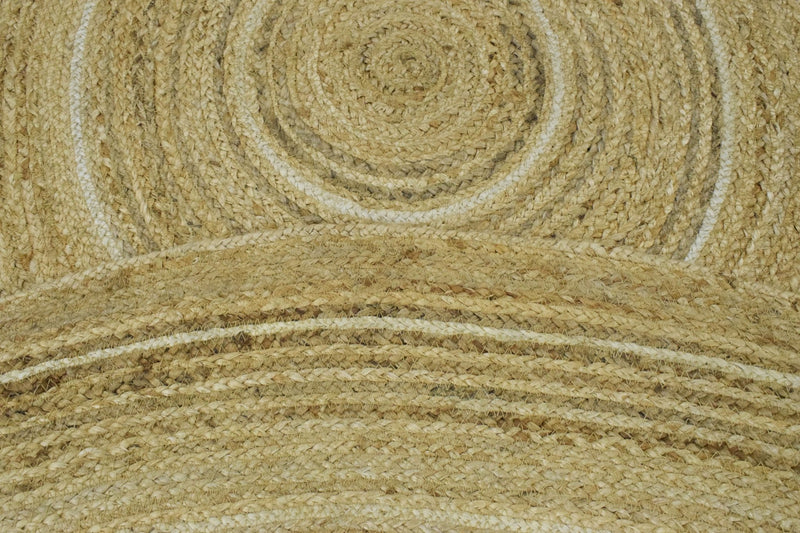 New 100% Natural Fiber 5 Feet Round Jute Rug, hand braided reversible rug | JR005 - The Rug Decor