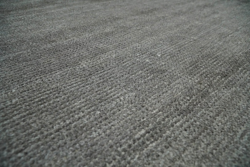Solid Gray Rug made with wool blend, Layering Rug, Living Room Rug | TRD178 - The Rug Decor