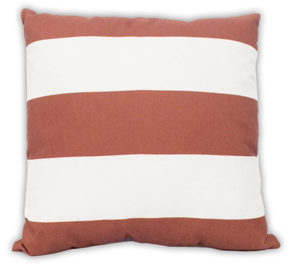 Squared Nautica Striped Designed Outdoor Safe Pillow - The Rug Decor