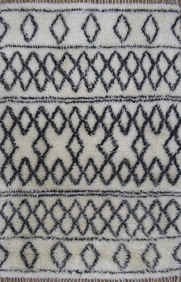 Traditional Hand Made New Zealand Wool 4' X 6' Area Rug |The Rug Decor | TRD172046 - The Rug Decor