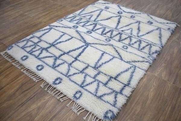 Traditional Hand Made New Zealand Wool 4' X 6' Rug |The Rug Decor | TRD171846 - The Rug Decor