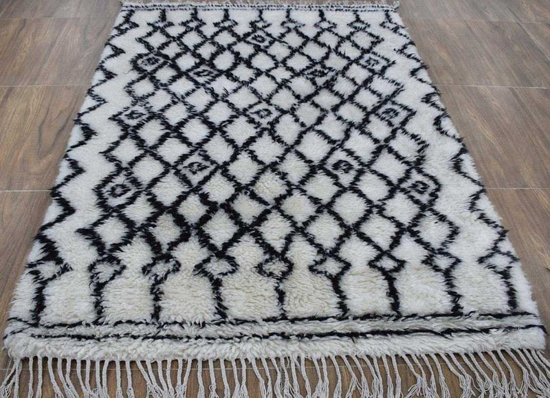 Traditional Hand Made New Zealand Wool 4' X 6' Rug |The Rug Decor | TRD172546 - The Rug Decor