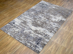 Traditional Handmade fine Wool Viscose 5' x 8' Area Rug | TRD634658 - The Rug Decor