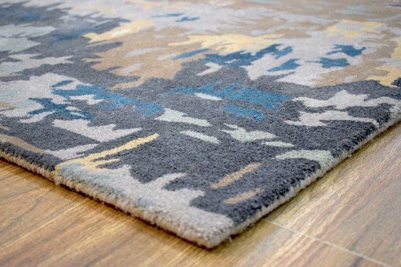 Traditional Handmade fine Wool Viscose 5' x 8' Area Rug | TRD635058 - The Rug Decor
