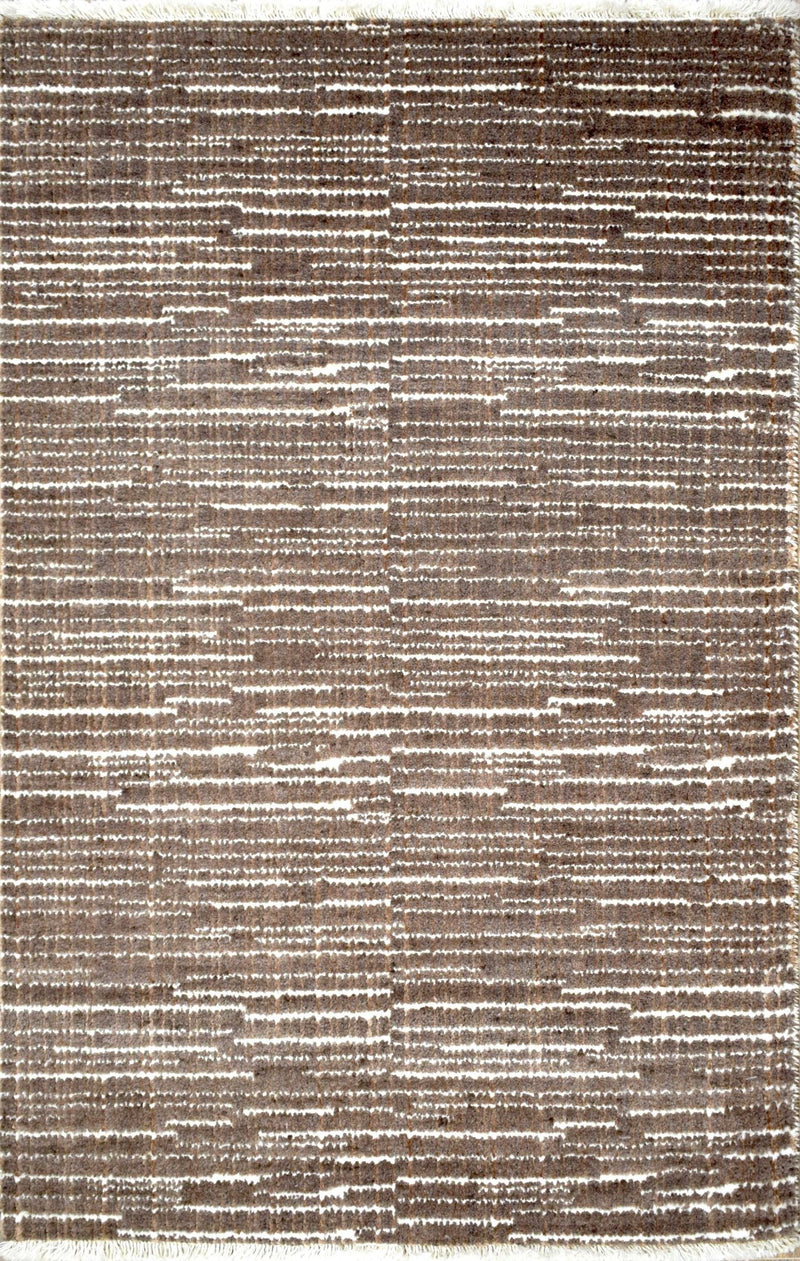 Traditional Handmade Wool & Viscose 2' by 3' Area Rug | TRD140323 - The Rug Decor