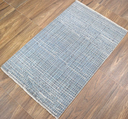 Traditional Handmade Wool & Viscose 2' by 3' Area Rug | TRD140423 - The Rug Decor
