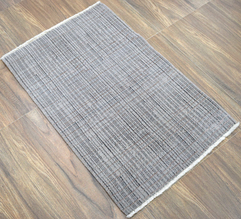 Traditional Handmade Wool & Viscose 2' by 3' Area Rug | TRD140523 - The Rug Decor