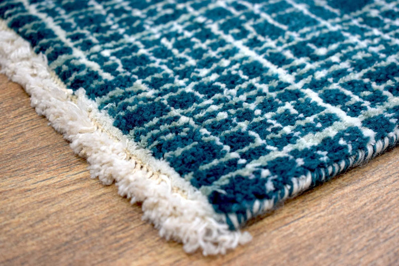 Traditional Handmade Wool & Viscose 2' by 3' Area Rug | TRD140823 - The Rug Decor