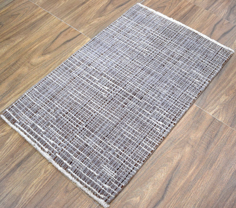 Traditional Handmade Wool & Viscose 2' by 3' Area Rug | TRD154523 - The Rug Decor