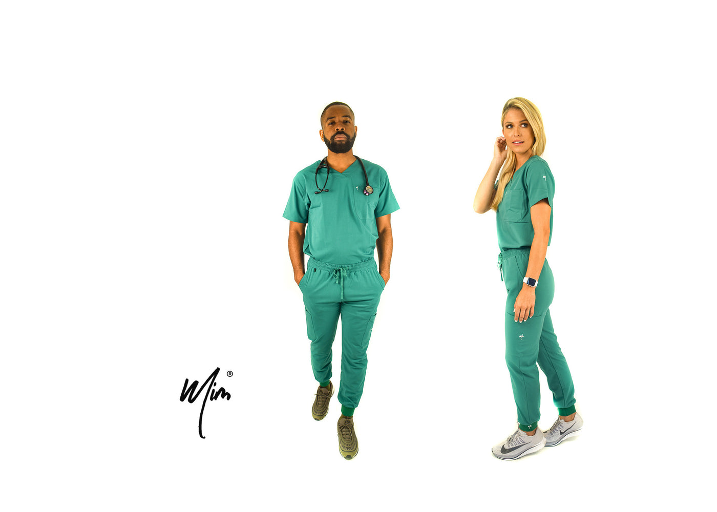 hunter green scrubs