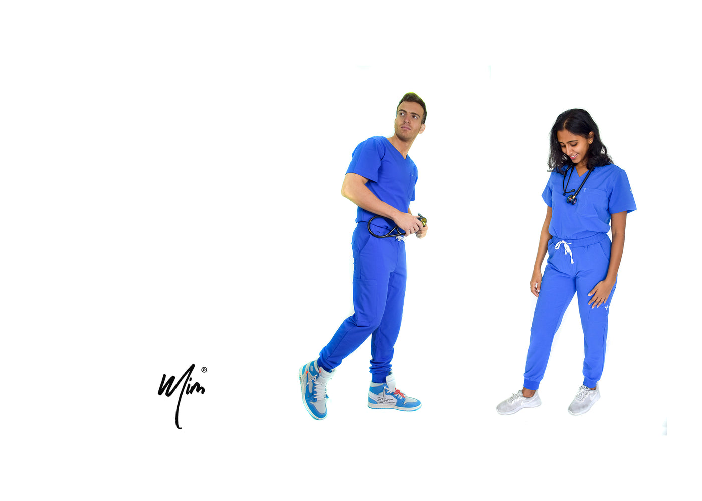 royal blue jogger scrubs