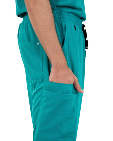 men's Teal Jogger Scrub Pants - Jogger Scrubs by Millennials In Medicine (Mim Scrubs)