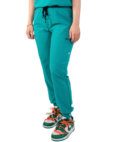 women's Teal Jogger Scrub Pants - Jogger Scrubs by Millennials In Medicine (Mim Scrubs)