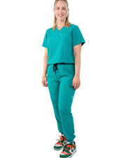 women's Teal Scrub Top - Jogger Scrubs by Millennials In Medicine (Mim Scrubs)