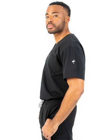 men's Black Scrub Top