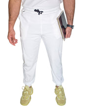 men's White Jogger Scrub Pants - Jogger Scrubs by Millennials In Medicine (Mim Scrubs)  Edit alt text