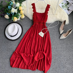 Spaghetti Strap Boho  Dress