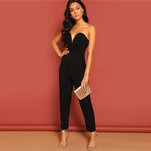 Sweetheart Neck Tube Jumpsuit
