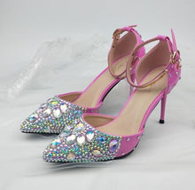 Pink Crystal Shoes-Bag