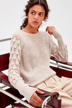 Stone Sleeve Detail Sweater