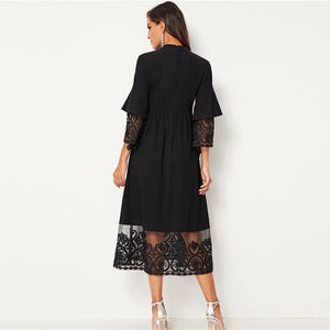 Embroidery Organza  Long Dress