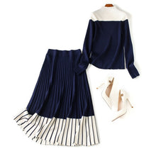 Knitted Skirt Two Piece