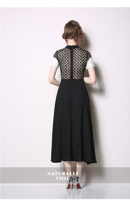 Turn-Down Collar  A-line Dress