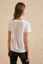 Embroidered Basic Knitted T-Shirt
