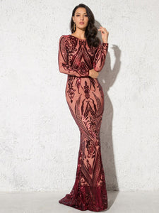Floor Length Bodycon Maxi Dress